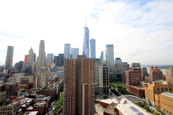 No Fee! Huge TriBeCa 1 Bedroom w/ Stunning Downtown & Water Views